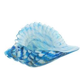 WIDDOP Handblown Glass Objets dArt Figurine - Shell (Size 22x11cm)