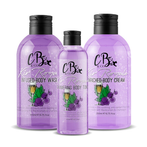 CB and CO Kir Royale Cocktail Set - Body Tonic, Body Lotion and Body Wash Estimated Dispatch 3-5 working days