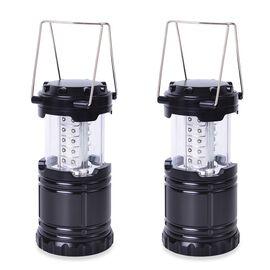 2 Pcs Set - Lightweight & Portable LED Camping Lantern with 30 LED (Size 12x8.5 Cm) (3xAA Batteries