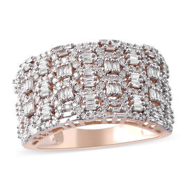 SGL CERTIFIED 9K Yellow Gold Diamond (G-H/ I3) Ring 1.00 Ct, Gold wt 6.50 Gms, Number of Diamonds 23