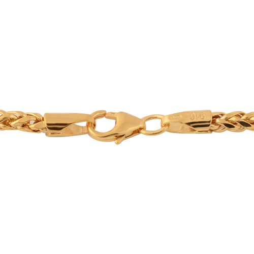 Italian Made- 22K Yellow Gold Spiga Necklace (Size 22),  Gold wt. 9.16 Gms.