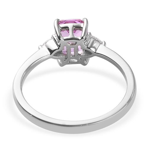 RHAPSODY 950 Platinum AAAA Madagascar Pink Sapphire and Diamond (VS/E-F) Ring 1.60 Ct, Platinum wt. 4.00 Gms