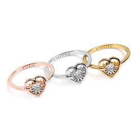 Personalised Classic Diamond Heart Shape Ring