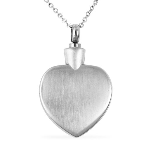 2 Piece Set - Engraved Memorial Son Heart Pendant with Chain (Size 20) and Funnel with Needle in Dual Tone