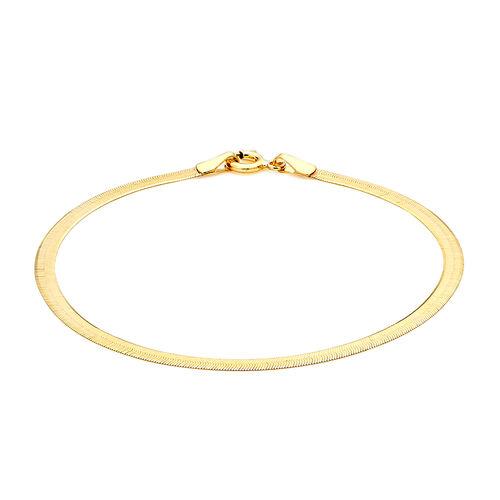 9K Yellow Gold Herringbone Bracelet (Size 7.25), Gold wt 1.50 Gms