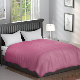 Serenity Night - Mulberry Silk Duvet with Square Quilting (Size Double 200x200cm)- Smoky Pink