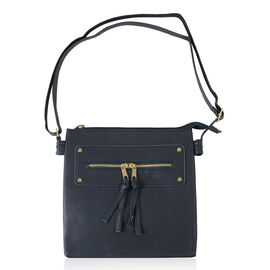 Black Colour Handbag with Adjustable Strap
