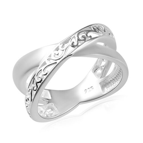 Filigree Criss Cross Ring in Sterling Silver