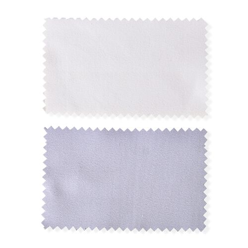 Set of 2 - Grey and Cream Colour Silver Polishing Cloths (Size 10.8x6.8 Cm)