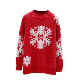 Kris Ana Christmas Snowflake Jumper One Size (8-16) - Red