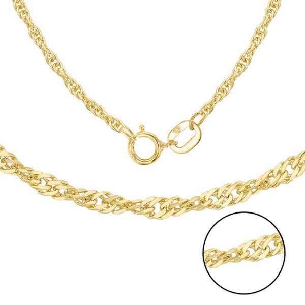 ILIANA 18K Yellow Gold Twisted Curb Chain (Size 16)