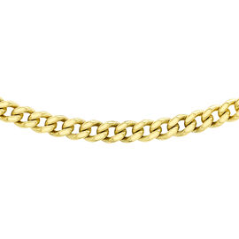 9K Yellow Gold Diamond Cut Curb Chain (Size 20), Gold wt 1.40 Gms