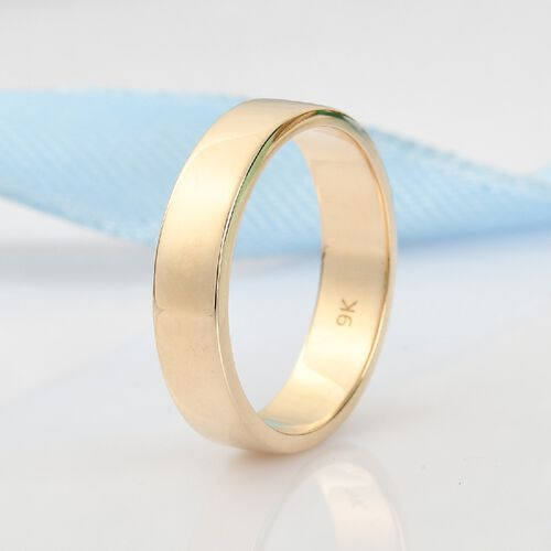 9K Yellow Gold Band Ring, Gold wt. 4.17 Gms