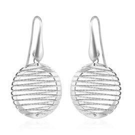 Hook Earrings in Rhodium Plated Silver