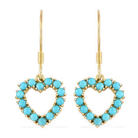 SLEEPING BEAUTY TURQUOISE (1.50 Ct) 14K Gold Overlay Sterling Silver Earring  1.500  Ct.