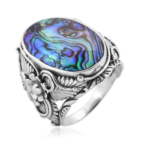 Royal Bali Collection Abalone Shell Ring in Sterling Silver, Silver wt 6.00 Gms.