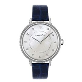 Close Out Deal- ETERNITY Swarovski Studded Watch in Rose Gold Tone with Navy Strap