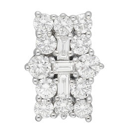 RHAPSODY 950 Platinum IGI Certified Diamond (VS/E-F) Cluster Pendant 1.00 Ct.