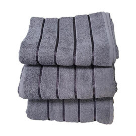 3 Piece Set 100% Combed Cotton Full Size Bath Sheets - Slate Grey (93 x 138 cm)