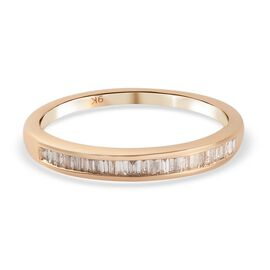 9K Yellow Gold SGL Certified Diamond (I1-I2/ G-H) Eternity Band Ring