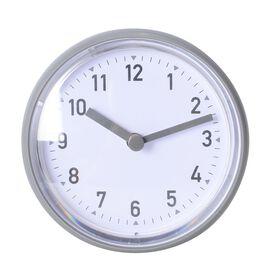 Rain - Shower Proof Clock with Vaccum Suction Mechanism Grey Colour