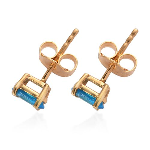 Neon Apatite Earring in 14K Gold Overlay Sterling Silver 0.18 ct  1.000  Ct.