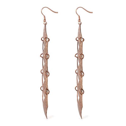 Glamour Goddess Hammered Hoook Earrings in Bronze Tone
