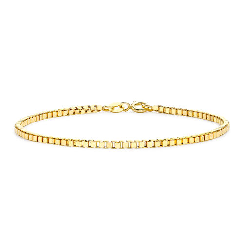 Close Out Deal Box Bracelet in 9K Yellow Gold 7.5 Inch