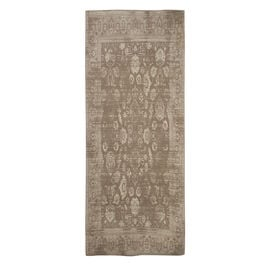 Premium Cotton Beige and Light Grey Colour Woven Rug (Size 240x80 Cm)