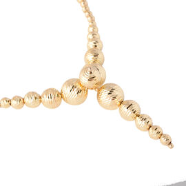 JCK Vegas Collection- Made in Italy- 9K Yellow Gold Diamond Cut Necklace (Size 18 with 2 inch extend