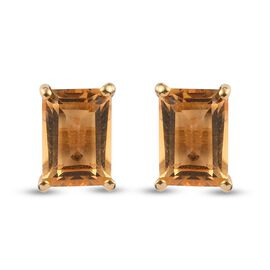 Citrine Earring in 14K Gold Overlay Sterling Silver 1.62 ct  1.615  Ct.
