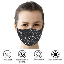 Reusable Fashion Face Covering With Rhinestones Crystals - Dotted