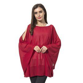 Off  Shoulder Apparel (Size 143x78 Cm) - Red