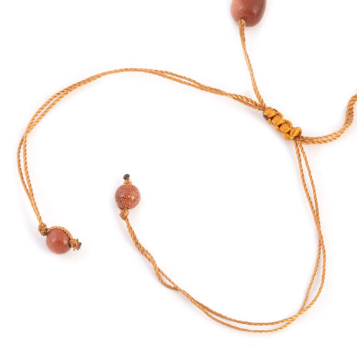 One Time Mega Deal- Rare Size Gold Sandstone Adjustable Beads Necklace (Size 20 - 32) 492.500 Ct.