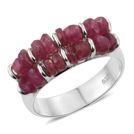 Limited Edition- African Ruby (Rnd) Ring in Sterling Silver 3.450 Ct, Silver wt 3.67 Gms.