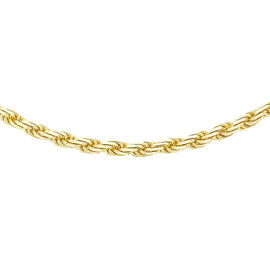 Rope Chain Necklace in 9K Gold 18 Inch