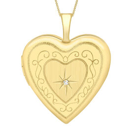 Heart Pendant in 9K Yellow Gold