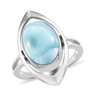 Sajen Silver ILLUMINATION Collection - Sajen Silver Larimar Ring in Platinum Overlay Sterling Silver