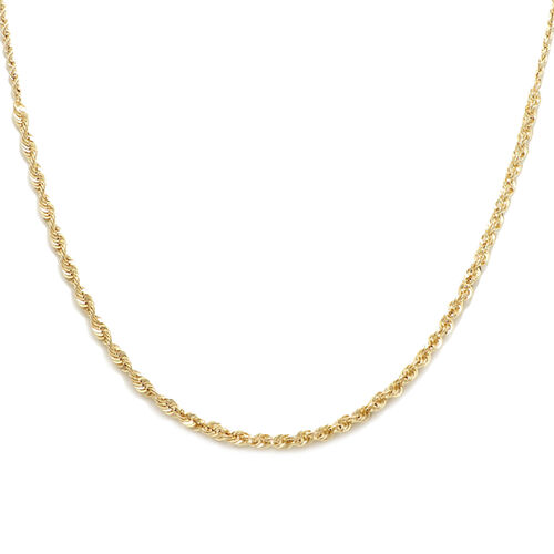 Italian Made 9K Yellow Gold Rope Necklace (Size 18), Gold wt. 2.50 Gms