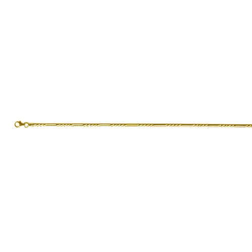 Vicenza Collection 14K Gold Overlay Sterling Silver Margarita Bracelet (Size 7.5)