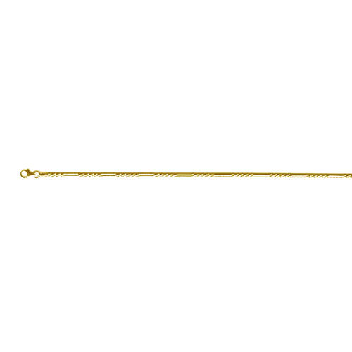 Vicenza Collection 14K Gold Overlay Sterling Silver Twisted Rock Chain (Size 20), Silver wt 4.90 Gms.