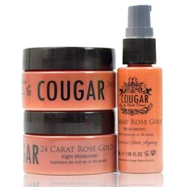 CB&CO: 24 Carat Rose Gold Set (Incl. 24 Carat Rose Gold Cream - 50ml, Night Cream - 50ml & Facial Se
