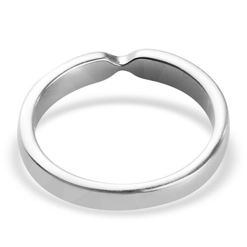 Platinum Overlay Sterling Silver Arrow Band Ring