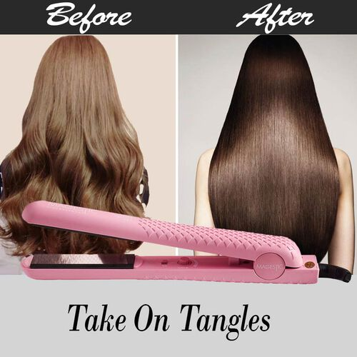 Magestic: 1.25 Hair Straightener - Pink
