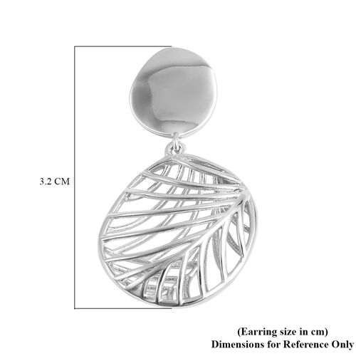 Isabella Liu Sea Rhyme Collection - Rhodium Overlay Sterling Silver Dangling Earrings (with Push Back)