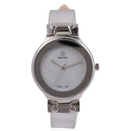 STRADA Japanese Movement Water Resistant Watch with Moonstone Colour Strap