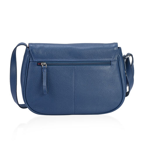 PREMIER COLLECTION Super Soft 100% Genuine Leather Navy Colour Cross Body Bag with Adjustable Strap (Size 27x18x7.5 Cm)