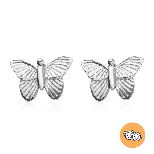 Children Butterfly Earrings in Sterling Silver