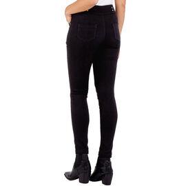 Nova of London High Waisted Skinny Jean with Gold Stud Detail - Black