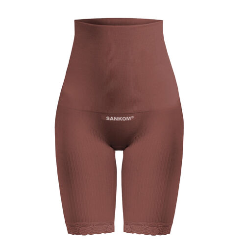 Doorbuster Deal- SANKOM SWITZERLAND Patent Classic Posture Correction Shapers Shorts with Lace (Size XXXL,24-28) - Taupe